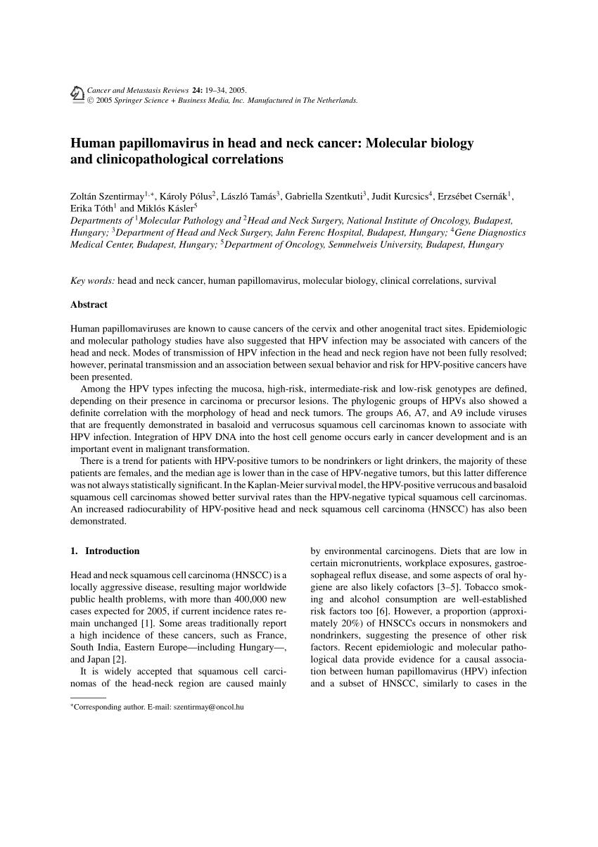 papillomavírus fertőzés prevalenciája