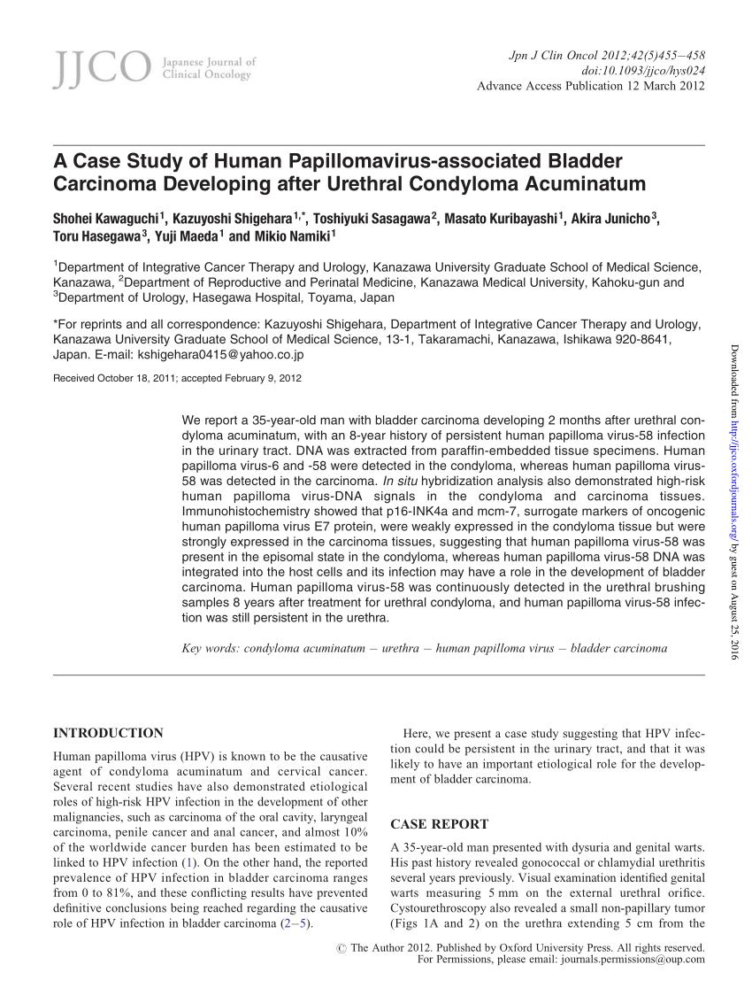 humán papillomavírus vs condyloma acuminata cukorbetegség és parazita kezelés